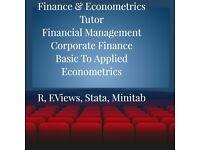 Finance, Econometrics, Statistics, Economics R Eviews Stata Spss Excel Stats Tutor DISSERTATION Help