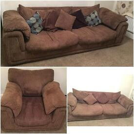 4 seater sofa and arm chair