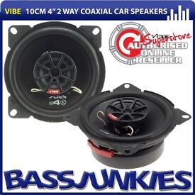 """Vibe SLICK4-V7 - Slick 4 10cm 4"""" 300 Watts a Pair Custom Fit Car Van Dash Door 2 Way Coaxial Speaker"""