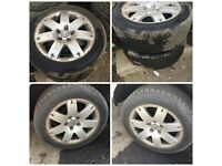 """Vw 205-55-16"""" Alloy Wheels and Tyres Set of Four"""
