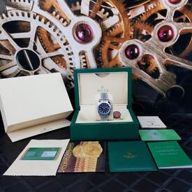 Silver Rolex DateJusr With Balck Face and Markers Comes Rolex Rolex Boxed with Paperwork