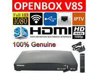 NEW OPENBOX V8S SATELLITE SYSTEM INCLUDES 12 MONTH G