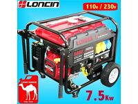 Loncin LC8000D-AS Generator with only 10 hours use.