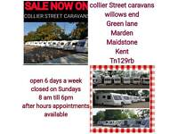 From £1500 2,4,5,6 berths fixedbeds and twinaxle caravans