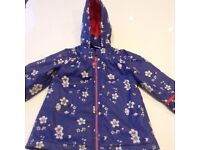 Girls Rain Coat from Marks and Spencer - Age 2-3 Years - Very Good Condition