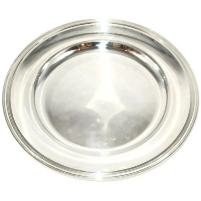 "Christofle Silverplate ALBI Round Serving Platter, 13 3/4"" Across"