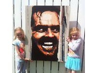 The Shining original painting on canvas 100cm x 80cm Famous movie scene
