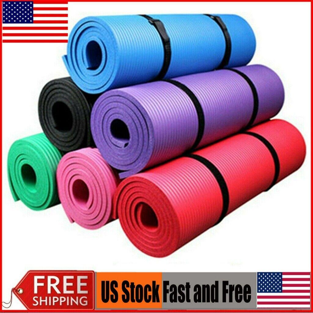 New 10mm Thick Non-Slip Yoga Mat Pad Exercise Fitness Light