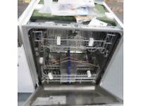 BEKO DW603 INTEGRATED FULL SIZE DISHWASHER, WHITE