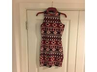 River island Aztec and turtle neck dress