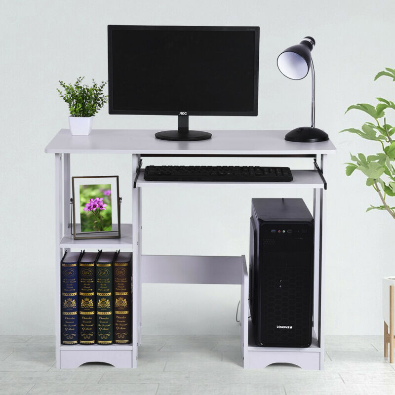 pc corner computer writing desk laptop table