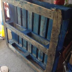 Blue heavy duty wood pallet