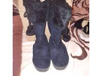 Ladies size 4 boots x 2 pairs