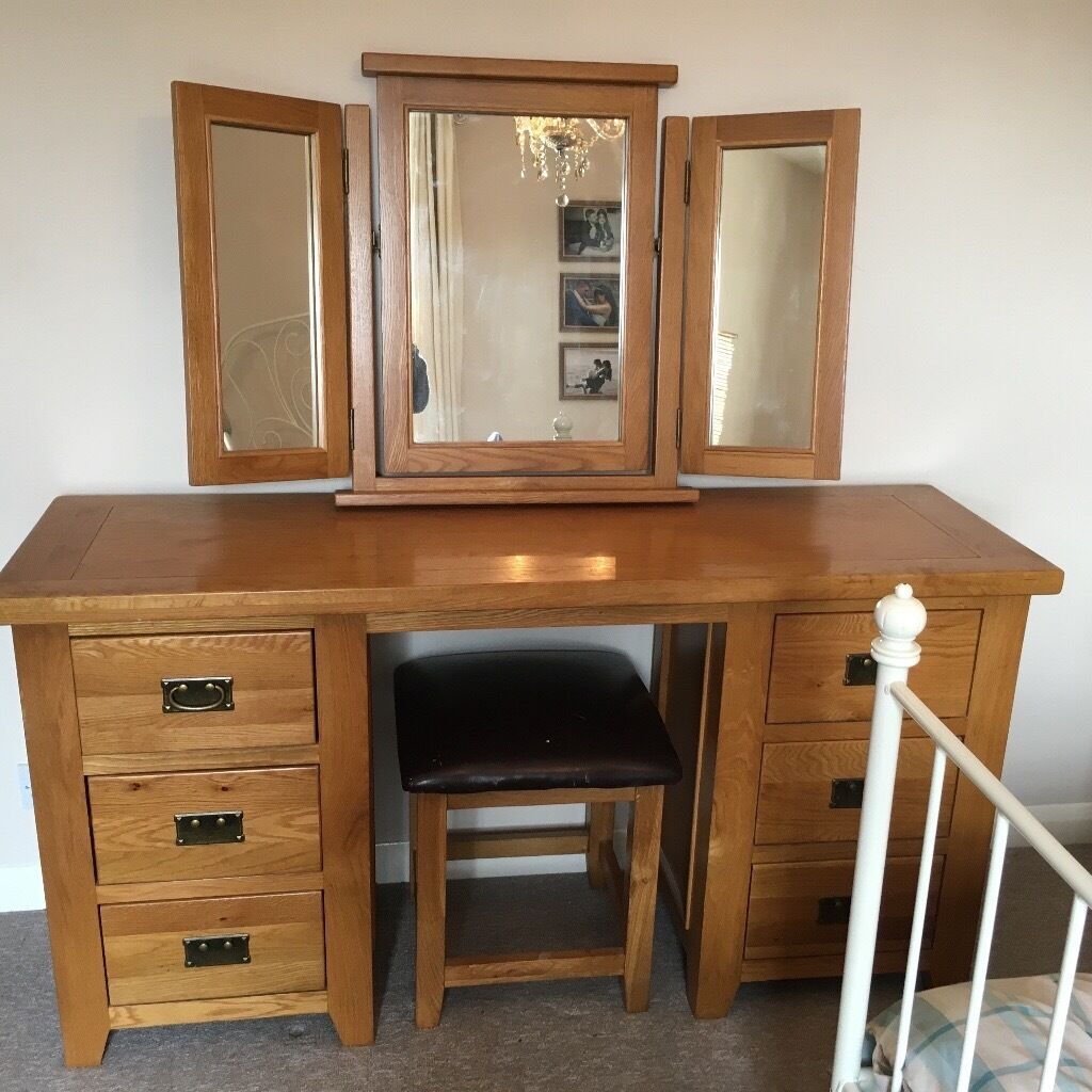 Oak 3 Way Dressing Table Mirror Designs