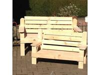Adult bench, Childs bench