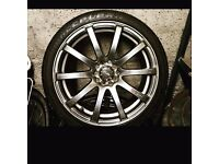 """18"""" multifit alloys & tyres."""
