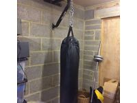 Bryan Punch Bag with boxing gloves