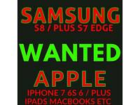 WANTED : SAMSUNG GALAXY S8 + PLUS S7 EDGE S6 S5 S4 S3 NOTE 5 4 3 A5 A7 J5 J3 TAB S S2 GEAR