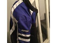 Motorbike jacket size xxxl rayven blue black white
