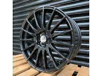 "New 18"" 5x108 Alloys Black Multispoke Wheels Ford Focus Mondeo Connect Volvo Jaguar"