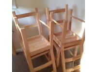 Nearly New Dining Room Chairs
