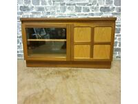 Mid-Century Modern Danish Style Media Cabinet in Teak by Nathan Furnit