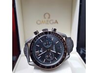 Gray and Black Onega Darkside of Moon Comes Omega Bagged and Boxed with Paperwork