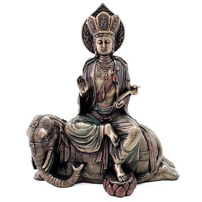 "SAMANTABHADRA STATUE 9"" Bodhisattva of Great Virtue HIGH QUALITY Buddha Buddhist"