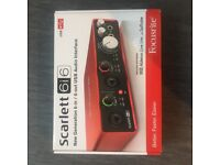 Scarlett 6i6 new gen audio interface