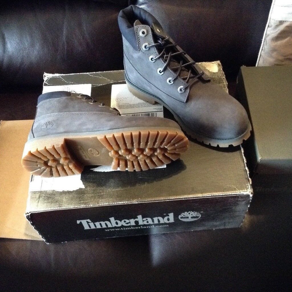 Timberland boots Brand new grey colour waterproof size 5.5 Cost £110.00