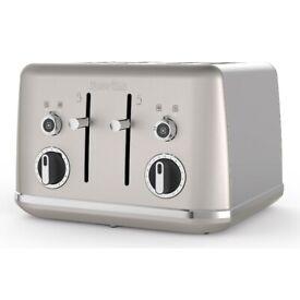 Breville Lustra Collection VTT851, Shimmer Cream 4 Slice Toaster
