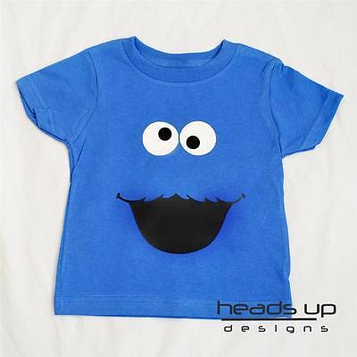 Cookie Monster Shirt Sesame Street Boy Girl Baby Bodysuit Newborn Infant Costume - Infant Cookie Monster Costume