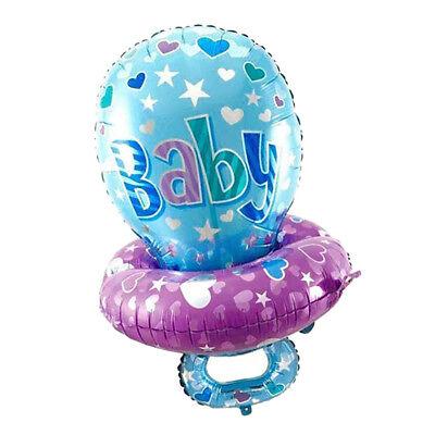 Schnuller, Luftballons (Glitzer Folienballon Luftballon mit Schnuller Form als Dekoration und Prop)