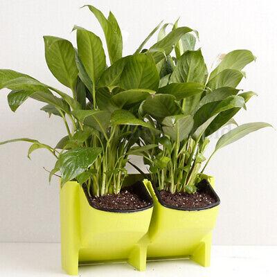 Wandbehang Garten Pflanzer Box 2 Pocket Indoor Outdoor vertikale Kraut Pot