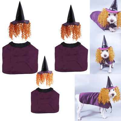 Pet Halloween Christmas Outfit - Witch Cloak With Hat For Pets Dogs Cats - Halloween Outfit For Dogs