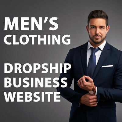 Mens Clothing Dropshipping Store - Turnkey Website Business