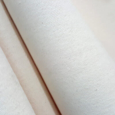 NATURAL UNPRIMED COTTON CANVAS DUCK FABRIC 10 oz  - 60