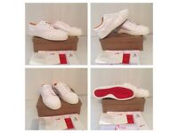 Christian Louboutin White Low Top Trainers Shoes Loubs Red Bottoms Soles Men Boys Sneakers