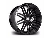 "Gloss Black x4 22"" Riviera Rv120 Alloy Wheels Range Rover Sport Vogue Discovery"
