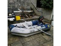 Zodiac 2.3m rib, 4HP Mercury outboard (just serviced), inflatable hull.