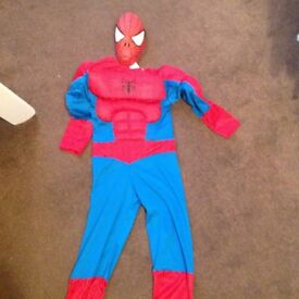 Spiderman, vet and fire fighter costumes