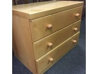 I have over 100 matching chests of draws for sale as one job lot all perfect