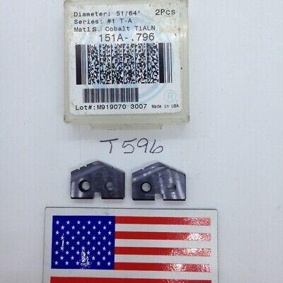 2 New 5164 Allied Spade Drill Insert Bit Amec. 151a-.796. Usa Made. T T596