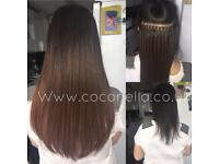 Russian Brazilian Indian mobile micro nano rings hot fusion human hair extensions from £150
