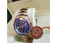 New Blue Face, 2-Tone Submariner - Rolex Boxed And Paperwork Included