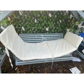 Steamer/Sun-lounger Cushion Pad - 3 parts - all can be removed to be washed - Cream