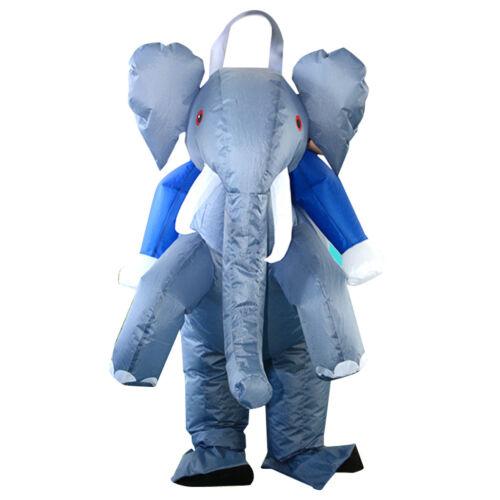 Lustiges Aufblasbares Elefant Kostüm Fatsuit Luft Fett Anzug Blowup Kostüm