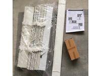 White wooden Venetian blinds x 6 new tape 50cm width