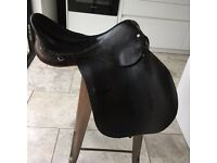 General Purpose Saddle, brown leather, 18inch seat, used, some wear-see photo £40