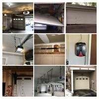 Garage doors, openers, broken springs, cables